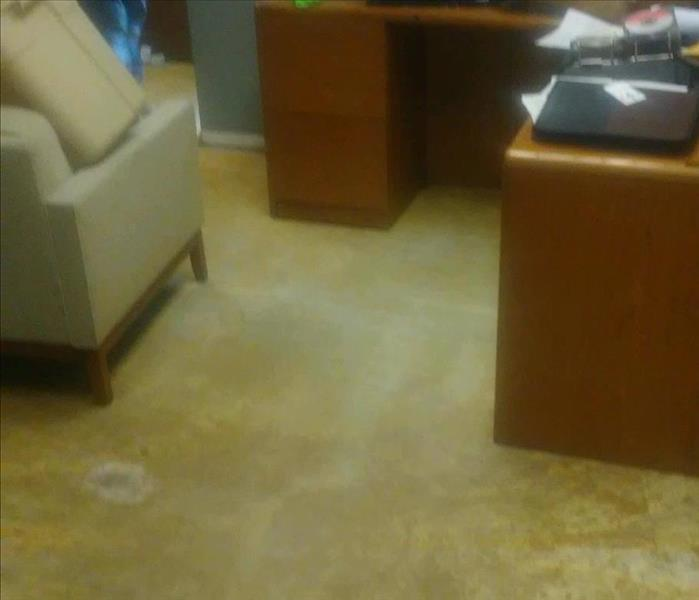 Water Damage in Highland Heights Office After