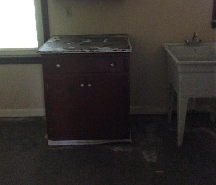 Black Mold Covers Kitchen Before